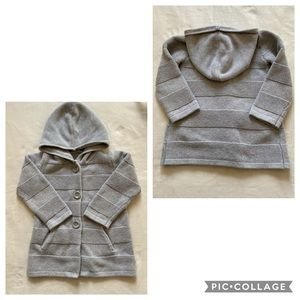 Baby Gap gray hooded sweater with pockets